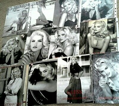 LOT Guess print ads 21page binder,1990s, early Anna Nicole