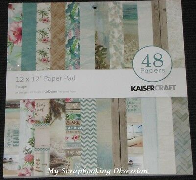 "Kaisercraft 'ESCAPE' 12x12"" Paper Pad 48 Sheets (24 Designs x2) Holiday KAISER"