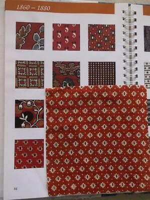 ~Back In Time Textiles~Antique 1860 Red & Brown Fabric 20 pcs~