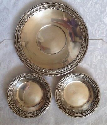 Reed and Baron silver set - plate and 2 bowls