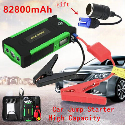 Portable 82800mAh Emergency Car Jump Starter Battery Charger 12V Starting Device