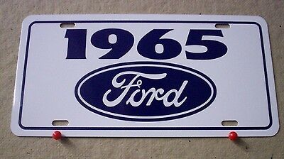 1965 Ford license Plate tag 65 Falcon Fairlane Mustang  Thunderbird Galaxie 500