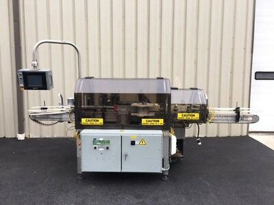 Trine Model 4500 Roll-Fed Wrap Around Hot Glue Labeler