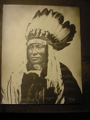 1880 Photo Rain In The Face Sioux Indian By L.a. Huffman