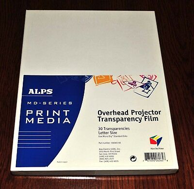 "ALPS Overhead Projector Transparency Film 21 Sheets 8 ½"" x 11"" Letter Size"