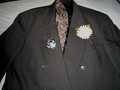 Vintage Pierre Cardin Double Breasted Suit w/accessories XXL