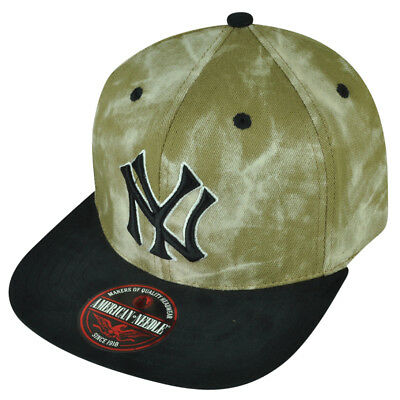 0894744e840ac MLB American Needle New York Yankees Marble Hat Cap Flat Bill Clip Buckle NY