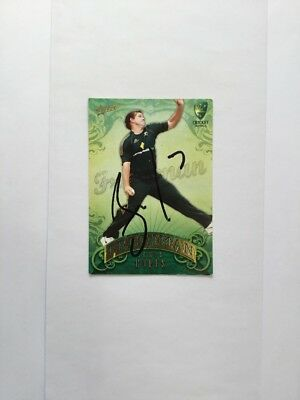 Signed Cricket Card