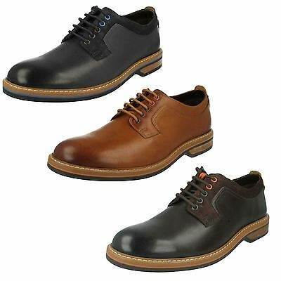 MENS CLARKS HUCKLEY SPRING LACE UP SMART CLASSIC FORMAL WORK OFFICE SHOES SIZE