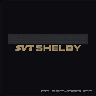 SVT Shelby Decal Sticker logo Sticker EURO Racing mustang ford GT Nascar Pair