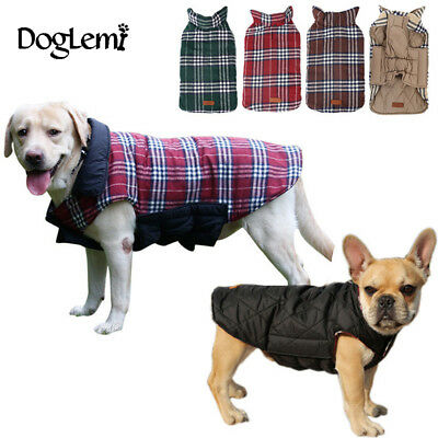 Reversible Sall to Extra Large Dog Waterproof Warm 2 in 1 Coat Jacket Clothes