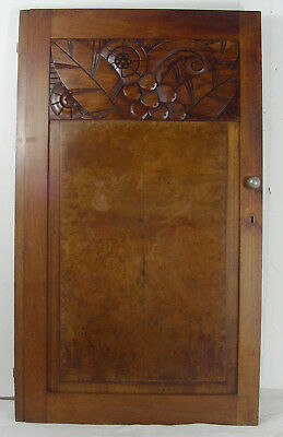 wood great panel door art deco 1930 walnut n°1