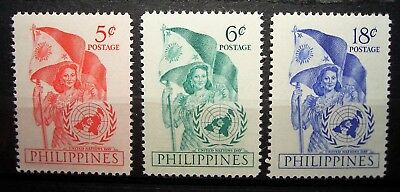 Philippines...1951 UN Day Set of 3.... MNH Stamps