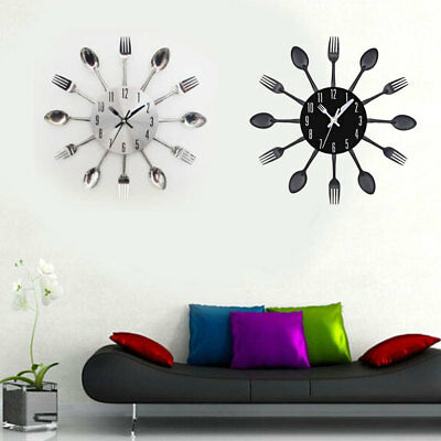 Kitchen Tableware wall Clock  Fork Creative Design Decoration Home Furnishing