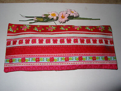 Yoga Relaxation Eye Pillow Lavender Filled Pink Floral Print Fabric Handmade