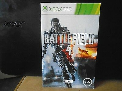 Booklet For Xbox360 Battlefield 4,    No Game,      Just The Booklet !!!!!!