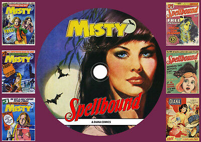 Misty (Complete) - Spellbound (Complete) Diana UK Comics On DVD Rom