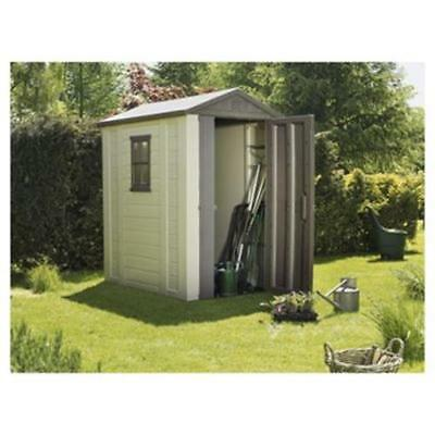 Outdoor Storage Keter Apex Plastic Garden Shed, 4X6 Ft New