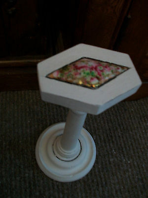 Vintage wooden millinery stand hat stand painted with Annie Sloan paint