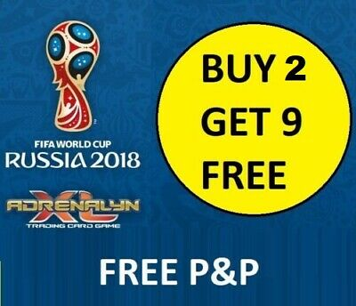 #253- 360 - 2018 FIFA World Cup Russia Adrenalyn XL Card Game BUY 2 GET 9 FREE!