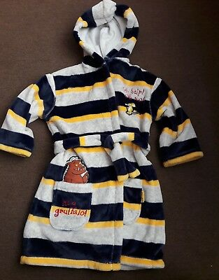 Boys The Gruffalo Dressing Gown - M&S - Age 2-3 years Brand New Very Cheap