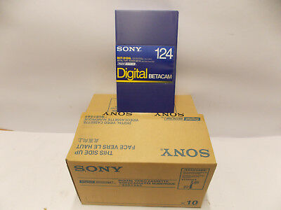 Sony BCT BCT-D 124L Digital Betacam Tapes 10er pack <>