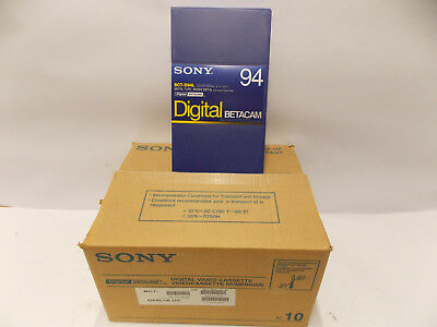 Sony BCT BCT-D 94 L Digital Betacam Tapes 10er pack <>