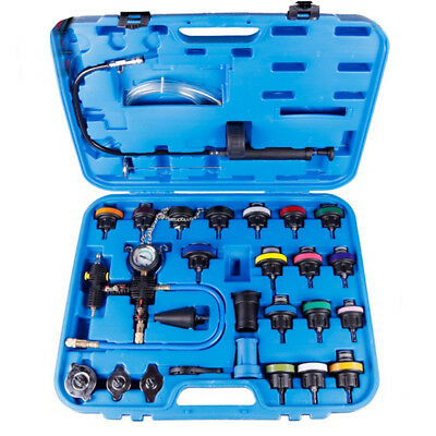 27Pc Hot Vacuum-Type Radiator Pressure Tester Cooling System Refill Kit Tool