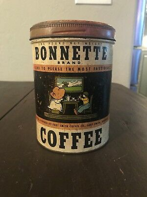 Bonnette Brand Coffee, Fort Smith Coffee Co, Fort Smith, Ark 1 lb