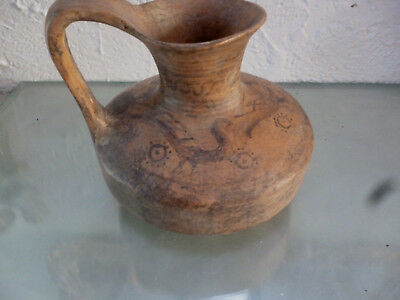 2 Antiquities Vases(1 Roman Glas,1Etruscan Oinochoe)good patina,nice sketches)