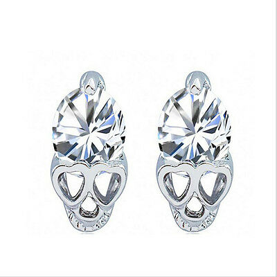 Silve alloy earring allergy skull earrings The new zircon earrings HOT