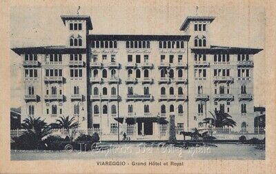 1924 Viareggio cartolina animata carrozza Grand Hotel et Royal Lucca CAPE1