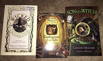 Lot of 3 PB by Gregory Maguire, Wicked, Son of a Witch, Confessions of an Ugly