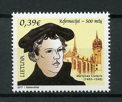 Lithuania 2017 MNH Reformation 500th Anniv Luther 1v Set Religion Stamps