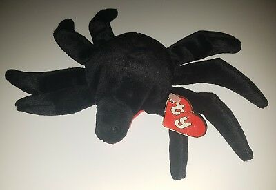 Ty Rare Beanie Babies Web 1st Generation Hang Tag,1st Gen Tush,1993.