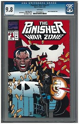 PUNISHER: WAR ZONE #1 CGC 9.8 (3/92) Marvel Comics white pages