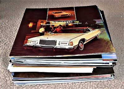 1976-86 Lot 70+ Ford Lincoln Mercury Brochures Mustang TBird Mark IV VII Cougar