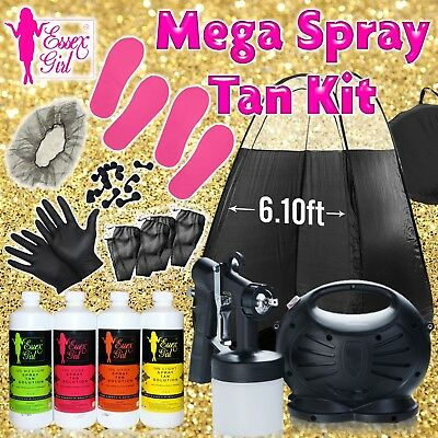 Fake Tan Spray Tanning Kit hvlp machine Soultions Tan Erasers Tent Sticky Feet