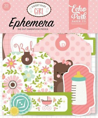 "Echo Park ""sweet Baby Girl"" Ephemera Die Cuts  Infant  Newborn Scrapjack's Place"