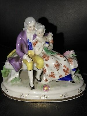 Goebel Minature Figural Group Porcelain Figurine Very Rare TMK-1