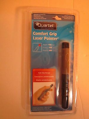 Quartet Comfort Grip Laser Pointer Projects 655 Feet 2 AAA Batteries Included