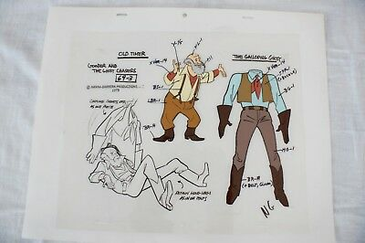 Hanna Barbera Cel Goober and The Ghost Chasers Old Timer Galloping Ghost