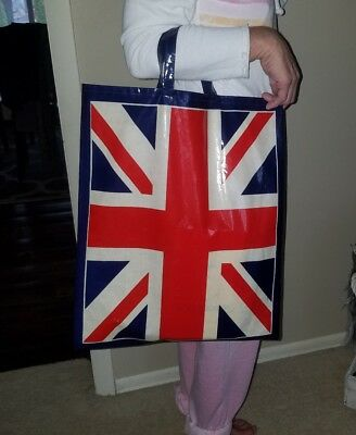 RARE *VINTAGE COUTURE Bag with the UNION JACK Flag* UNIQUE ONLY ONE ON EBAY