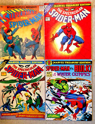 Lot of 22 Marvel & DC TREASURY Editions Spider-Man Superman Star Wars Shazam++++