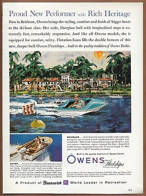 Owens Fleetships Brisbane Dover Boat Single Page Magazine Print Ad 1961
