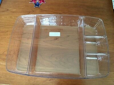 Longaberger Large Serving Tray 5 Way Divided PROTECTOR, 40754