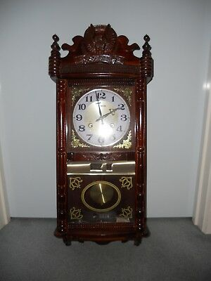 Antique Wind Up Pendulum Clock