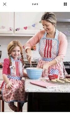 Matilda Jane Hearts And Crafts Mommy & Me Apron Set Lot New Nwt Camp Mjc