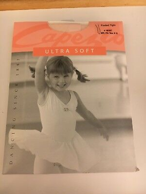 Capezio Ultra Soft Footed Tights New Pink 1815C  Childs Size 8-12