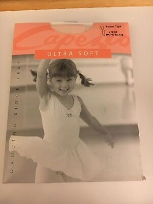 Capezio Ultra Soft Footed Tights New Pink 1815C Childs 8-12